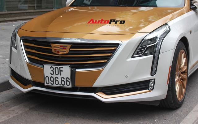 Cadillac CT6 Premium Luxury đổi màu phong cách dân chơi Dubai tại Hà Nội - Ảnh 6.