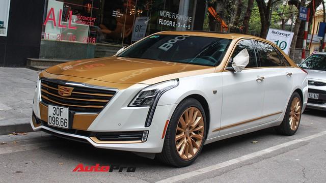 Cadillac CT6 Premium Luxury đổi màu phong cách dân chơi Dubai tại Hà Nội
