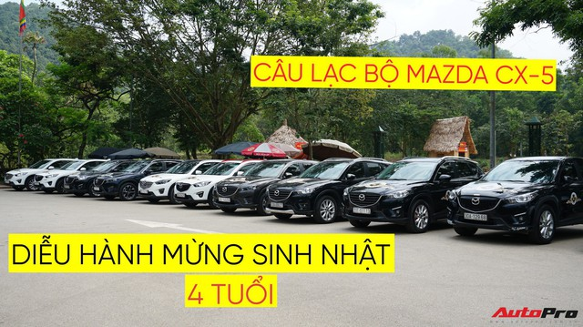Hơn 20 xe Mazda CX-5 diễu hành tại Hà Nội mừng CLB sinh nhật 4 tuổi