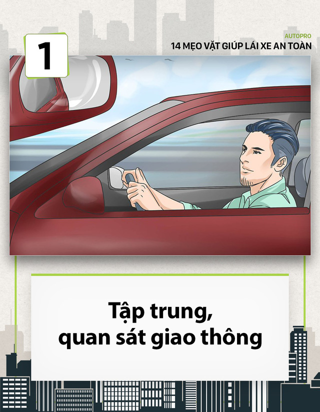 [Photo Story] 14 mẹo vặt giúp các tài non lái xe an toàn - Ảnh 1.