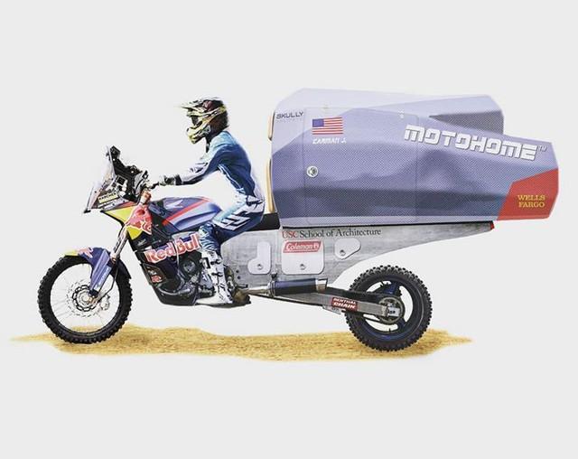 Sinh viên biến Honda CB thành nhà di động đi muôn nơi - Ảnh 5.