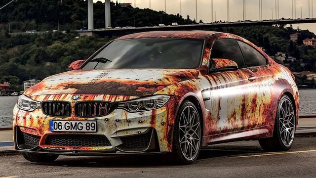 Bộ đôi xe sang tiền tỷ BMW và Audi phong cách gỉ sét của dân chơi Việt khiến không ít người xót xa - Ảnh 3.