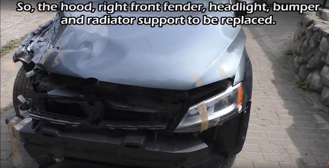 Xe bán sắt vụn Volkswagen Jetta được sửa lại như mới sau 1 tuần - Ảnh 1.