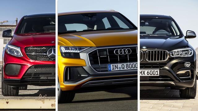 Audi Q8 vs BMW X6 vs Mercedes-Benz GLE: Đâu là lựa chọn xứng đáng?