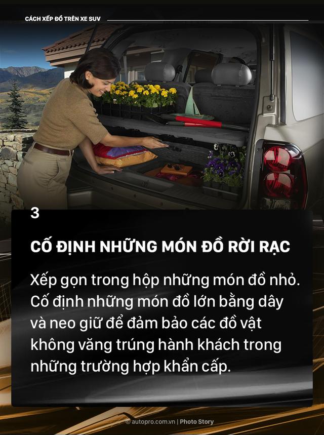 [Photo Story] Đây là các cách xếp đồ gọn gàng trên SUV mà bạn cần biết - Ảnh 3.