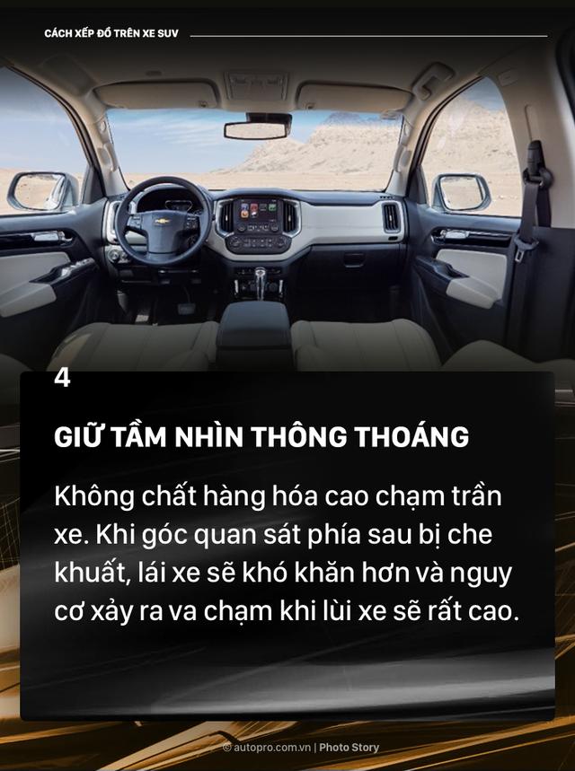 [Photo Story] Đây là các cách xếp đồ gọn gàng trên SUV mà bạn cần biết - Ảnh 4.