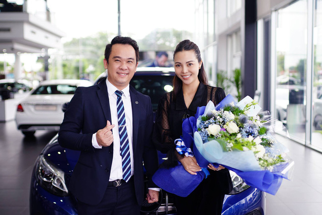 Á hậu Trà Giang mua Mercedes-Benz GLC 200 bản độ chính hãng phong cách AMG - Ảnh 1.