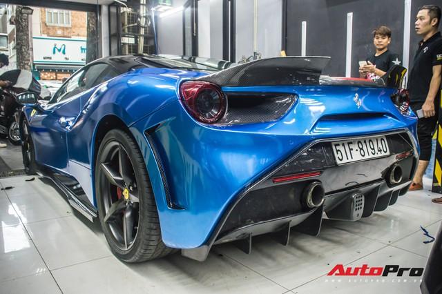 Siêu xe Ferrari 488 GTB của dân chơi Đà Lạt độ bodykit SVR trị giá hàng trăm triệu đồng - Ảnh 9.