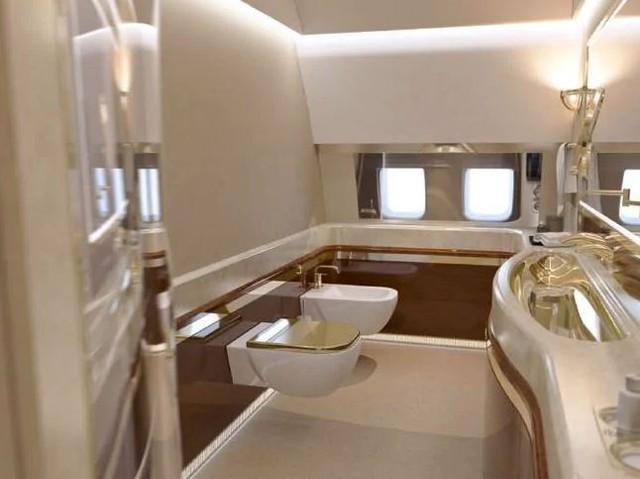 Đây là chuyên cơ riêng của tổng thống Putin, có cả Gym riêng và toilet mạ vàng - Ảnh 1.