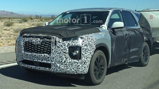 SUV 8 chỗ Hyundai Palisade lộ diện với đầu xe mới - Ảnh 2.