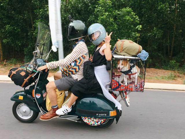 Chàng trai Sài Gòn chế lồng trên xe Vespa cho thú cưng đi phượt đã đời - Ảnh 3.