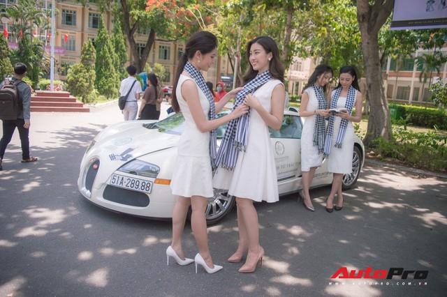 Bộ ba hoa hậu, á hậu cùng các người đẹp Việt Nam xuất hiện bên Bugatti Veyron của Trung Nguyên - Ảnh 7.