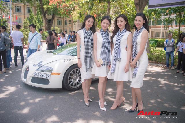 Bộ ba hoa hậu, á hậu cùng các người đẹp Việt Nam xuất hiện bên Bugatti Veyron của Trung Nguyên - Ảnh 2.