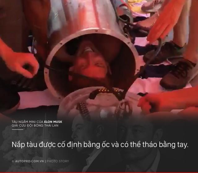 [Photo Story] Có gì đặc biệt trong tàu ngầm mini Tesla mang tới giải cứu các cầu thủ Thái Lan - Ảnh 5.