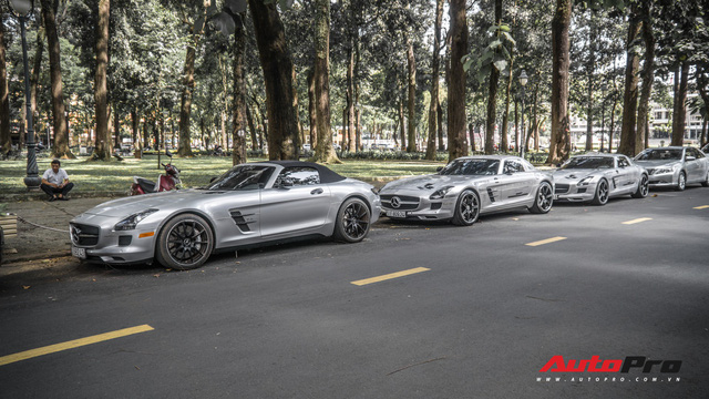 Sau hành trình xuyên Việt, bộ 3 siêu xe Mercedes-Benz SLS AMG đặc biệt của ông chủ cà phê Trung Nguyên lại tham gia minishow tại Sài Gòn - Ảnh 6.