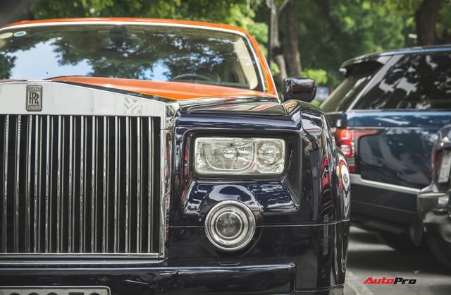 Chiếc Rolls-Royce Phantom tại Hà Nội đổi màu nhanh như tắc kè: Vừa hết tím mộng mơ lại đến cam cá tính - Ảnh 5.