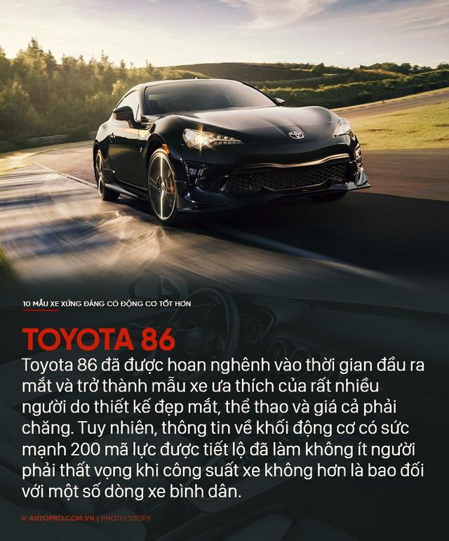 Thiết kế đẹp mắt chưa đủ, 10 mẫu xe sau xứng đáng có động cơ tốt hơn - Ảnh 2.
