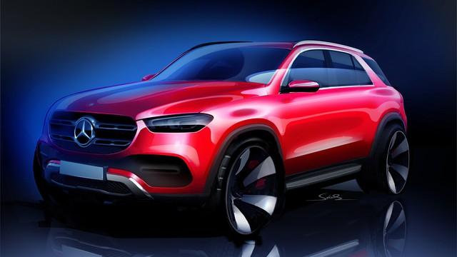 Mercedes-Benz GLE 2019 bất ngờ lộ ảnh thực tế biến ảnh phác thảo chính hãng trở nên... vô dụng - Ảnh 1.