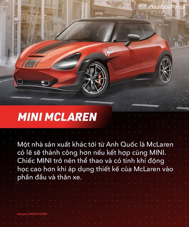 Bugatti, Porsche và McLaren sẽ ra sao nếu thuê MINI thiết kế? - Ảnh 3.