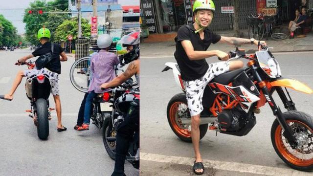 Chân ngắn nhưng đam mê xe phân khối lớn, thanh niên tạo nên hình ảnh hài hước trên phố