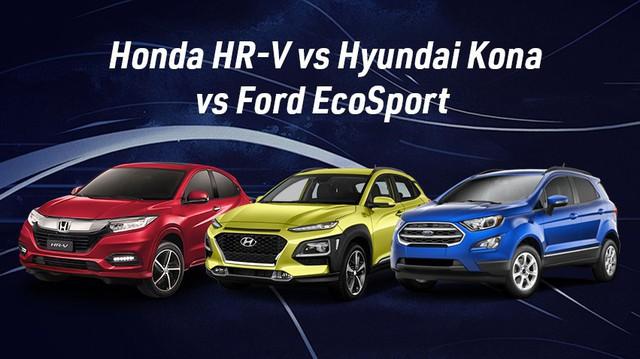Giá cao, Honda HR-V có gì để lựa chọn thay Hyundai Kona và Ford EcoSport?