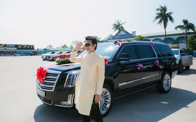Xe Khủng long Mỹ dẫn đầu đoàn rước dâu hoành tráng ở Quảng Ninh - Ảnh 4.