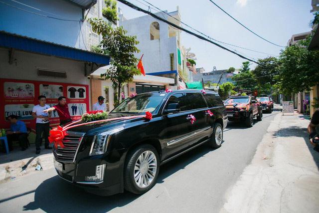 Xe Khủng long Mỹ dẫn đầu đoàn rước dâu hoành tráng ở Quảng Ninh - Ảnh 10.