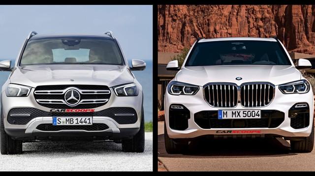 So găng thiết kế Mercedes-Benz GLE và BMW X5 2019: Một con đường, hai ngã rẽ