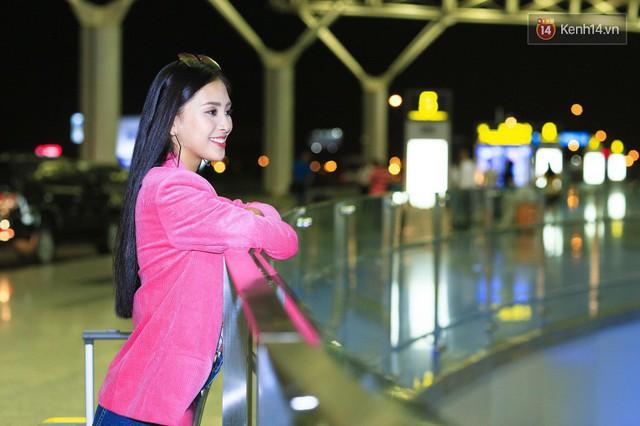 Hoa hậu Tiểu Vy rạng rỡ tại sân bay trước khi lên đường sang Paris dự sự kiện ra mắt ô tô VinFast - Ảnh 3.