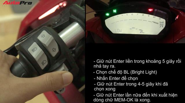 Hướng dẫn thay đổi một số chế độ trên màn hình của Ducati SuperSport - Ảnh 3.