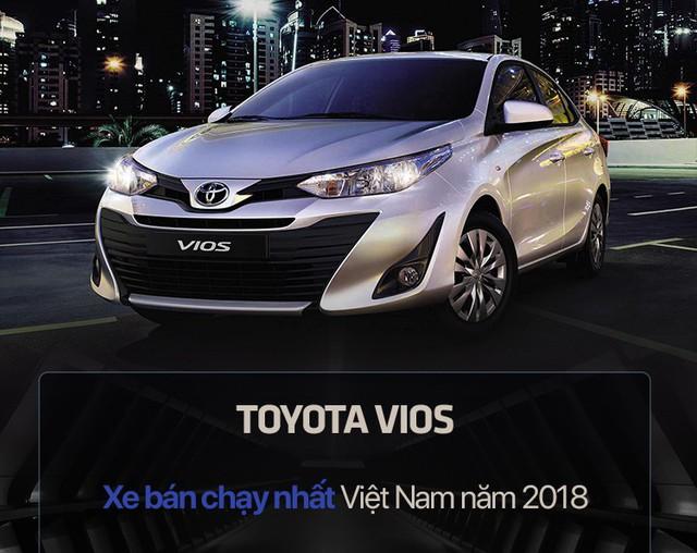 10 xe bán chạy nhất Việt Nam năm 2018: Toyota Vios vô địch, vị trí thứ 10 gây chú ý - Ảnh 2.