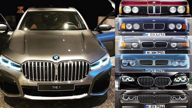 Nhìn lại thay đổi bộ mặt BMW 7-Series qua từng thế hệ: Đèn thu nhỏ còn 'lỗ mũi' lớn dần