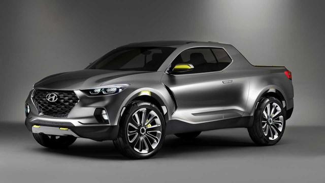 Xe bán tải Hyundai lần đầu khoe thân vỏ, có chi tiết giống Elantra mới - Ảnh 1.