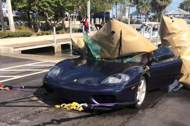 Ferrari 360 lao xuống biển, được giải cứu thành công nhưng khó tránh khỏi số phận hẩm hiu - Ảnh 8.