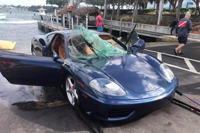 Ferrari 360 lao xuống biển, được giải cứu thành công nhưng khó tránh khỏi số phận hẩm hiu - Ảnh 6.
