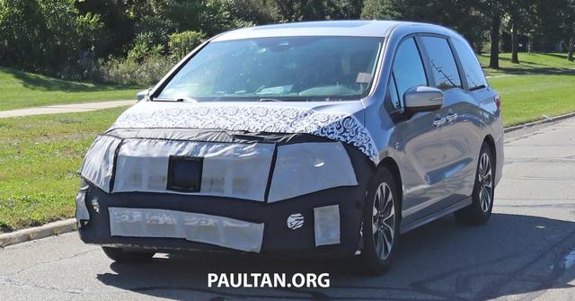 Honda Odyssey lần đầu lộ diện phiên bản mới, cạnh tranh Kia Sedona - Ảnh 1.