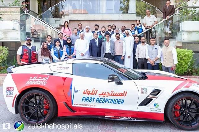 Dubai trưng dụng Nissan GT-R và Chevrolet Corvette cho mục đích cứu thương  - Ảnh 1.