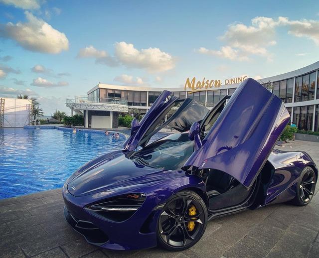 Bo 3 McLaren 720S hoi tu o Vung Tau Chiec mau xanh la lam gay chu y