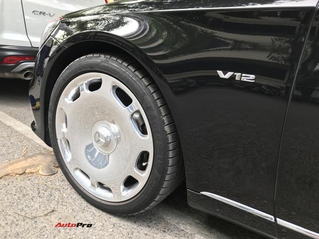 Mercedes-Maybach S 650 hàng hiếm của đại gia Lào Cai gặp nạn tại Hà Nội - Ảnh 4.