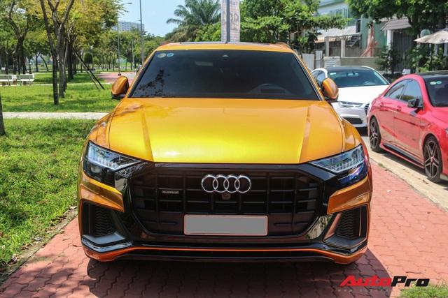 Cận cảnh Audi Q8 với gói ngoại thất ngàn đô, màu cam độc nhất Việt Nam - Ảnh 3.