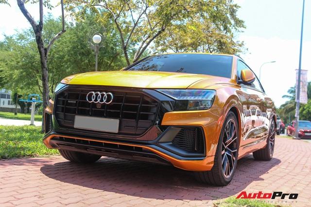 Cận cảnh Audi Q8 với gói ngoại thất ngàn đô, màu cam độc nhất Việt Nam - Ảnh 2.