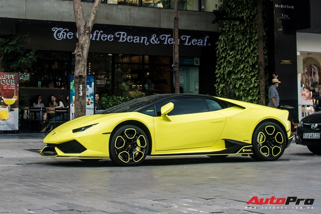 Cận cảnh chiếc Lamborghini Huracan màu vàng neon hàng độc tại Việt Nam - Ảnh 2.