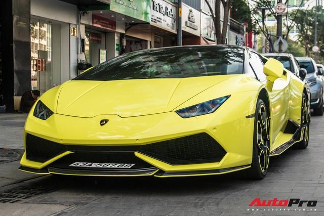 Cận cảnh chiếc Lamborghini Huracan màu vàng neon hàng độc tại Việt Nam - Ảnh 5.