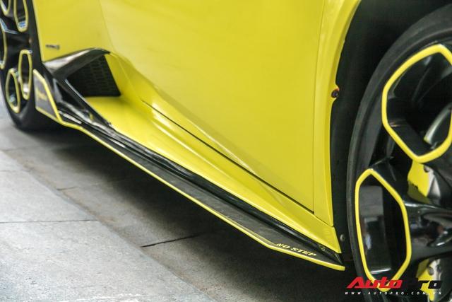 Cận cảnh chiếc Lamborghini Huracan màu vàng neon hàng độc tại Việt Nam - Ảnh 10.