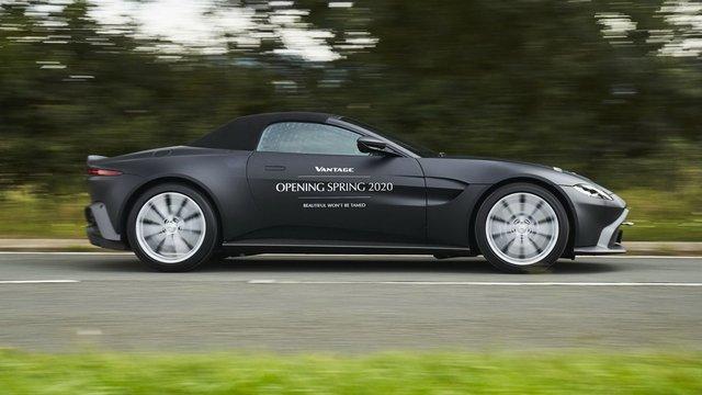 Aston Martin Vantage Roadster 2020 lộ diện với mui trần mỹ miều - Ảnh 1.