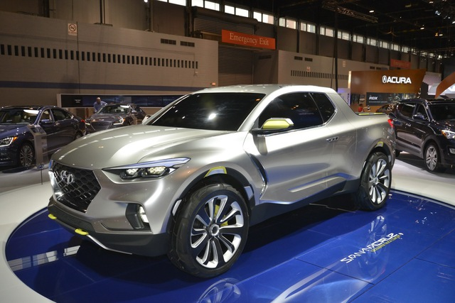 Lộ diện ảnh đầu tiên của bản hoàn chỉnh bán tải Hyundai Santa Cruz cạnh tranh Ford Ranger - Ảnh 1.