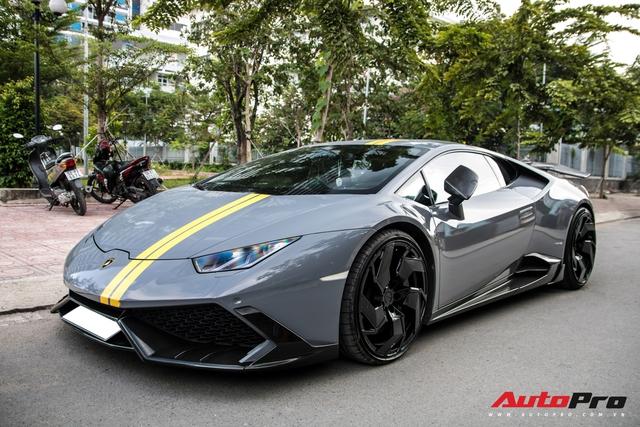 Đại gia Việt bắt trend, lột xác Lamborghini Huracan độ Mansory với ngoại thất màu xi-măng - Ảnh 9.
