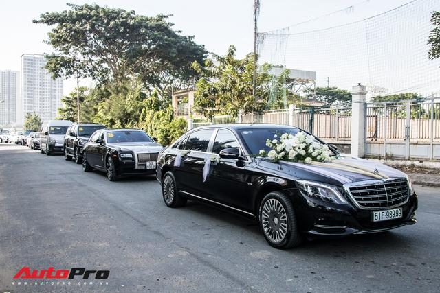 Dàn xe trị giá không dưới 40 tỷ đồng tham gia hôn lễ ca sĩ Bảo Thy và ông xã doanh nhân - Ảnh 1.