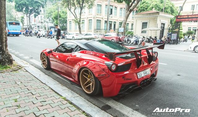 Ferrari 458 Liberty Walk độc nhất Việt Nam tái xuất, tiếng pô khiến bất kì ai cũng ngoái nhìn - Ảnh 12.