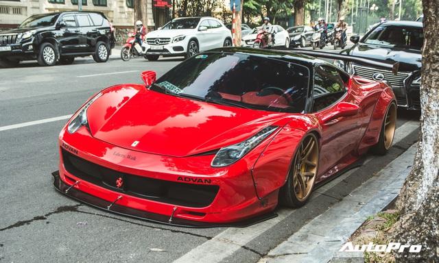 Ferrari 458 Liberty Walk độc nhất Việt Nam tái xuất, tiếng pô khiến bất kì ai cũng ngoái nhìn - Ảnh 5.